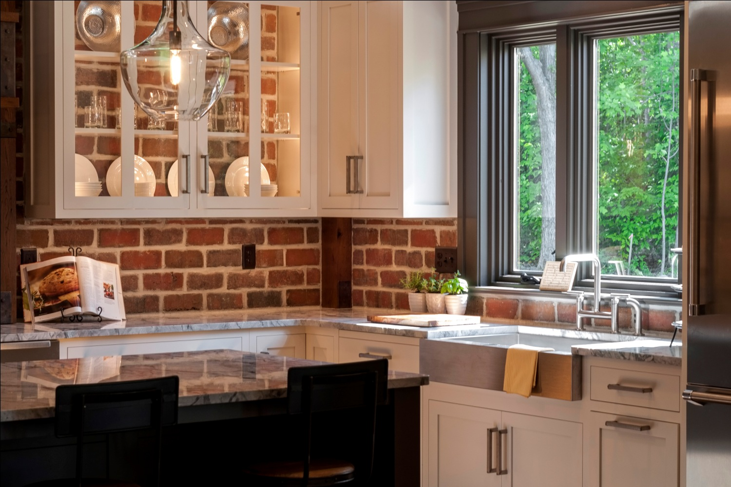 Brick Wall Kitchen