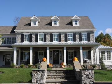 gray stone custom home