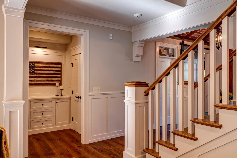 Hallway white oak flooring