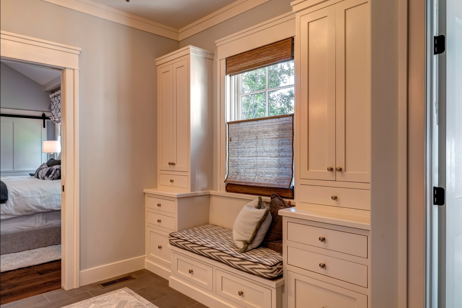 Master Bathroom Window Seat