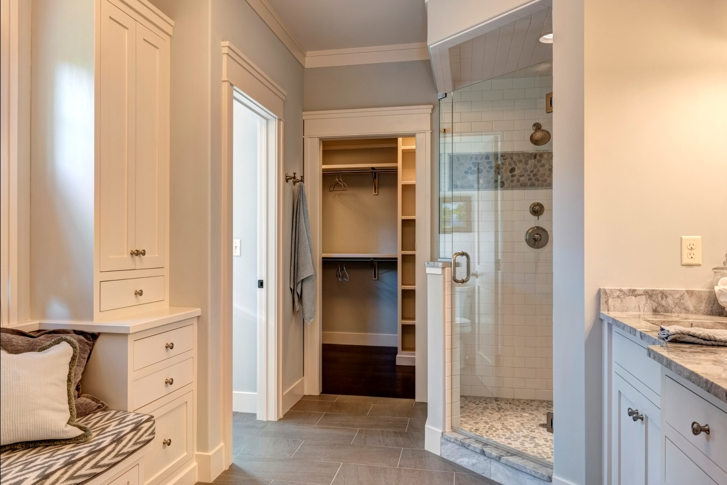 Master bathroom shower stall