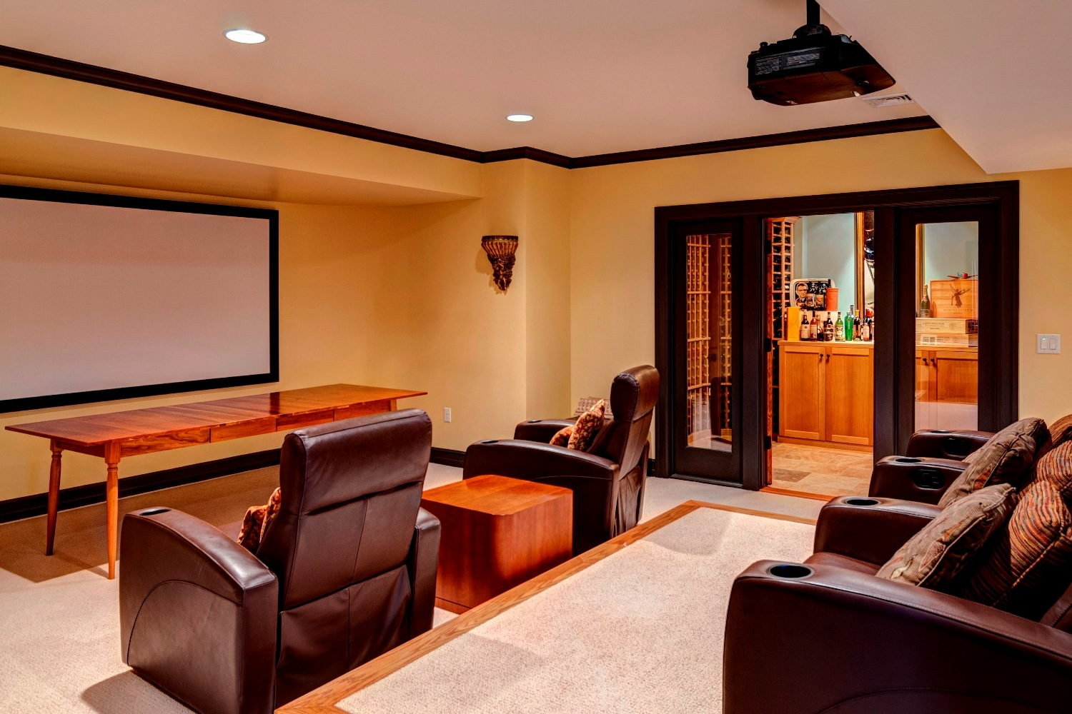 Theater Room and Wine Cellar